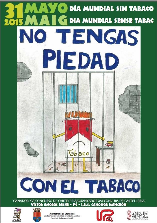 Cartel del día mundial sin tabaco del 2015
