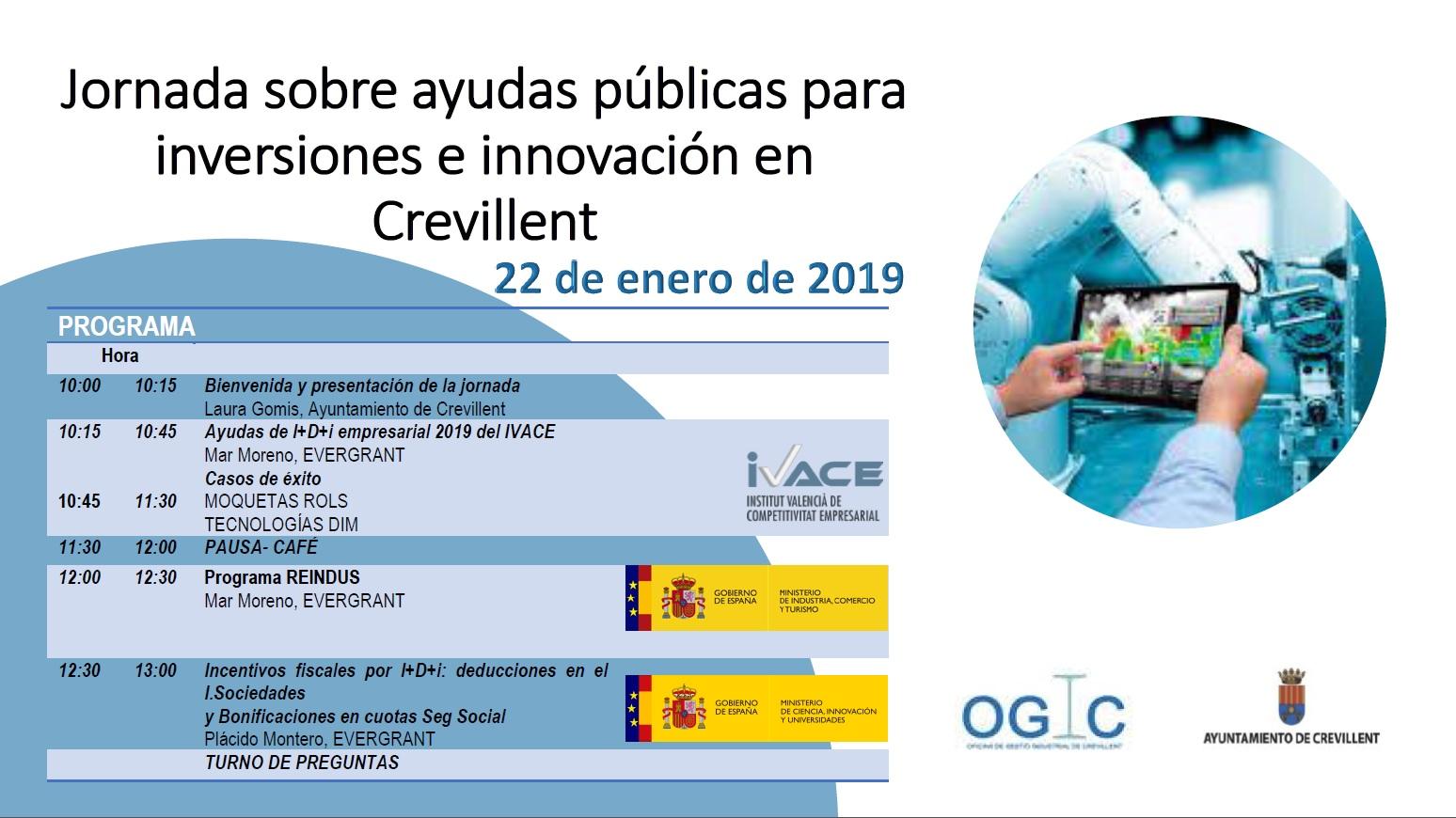 Jornadas sobre Ayudas Públicas para Inversiones e Innovación en Crevillent