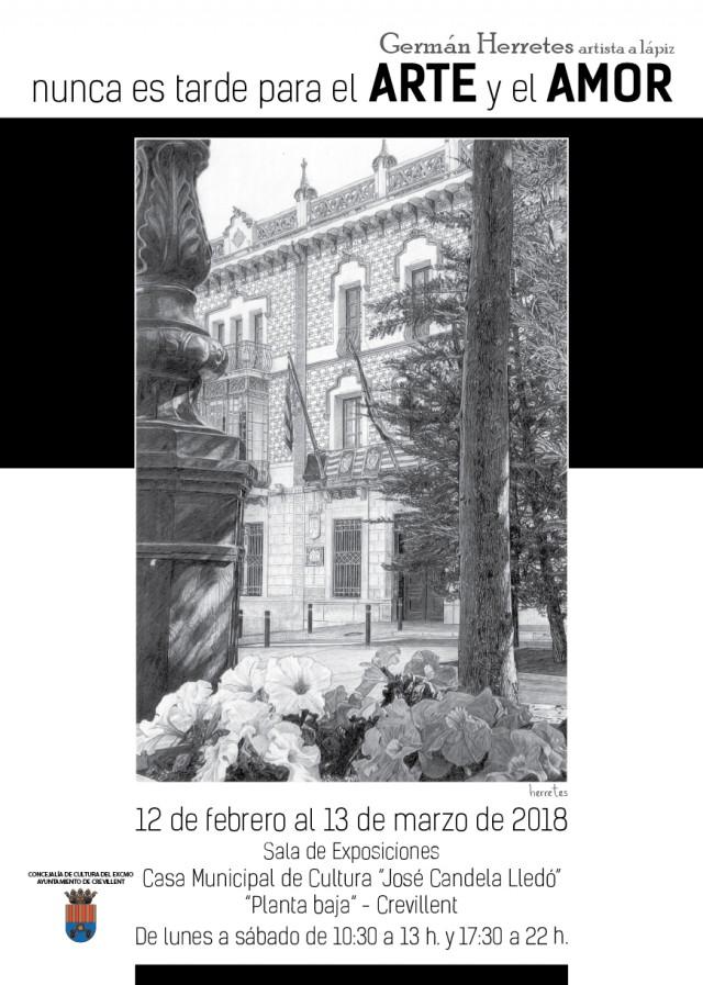 """EXPOSICIÓN """"NUNCA ES TARDE PARA EL ARTE Y EL AMOR"""", DE GERMÁN HERRETES."""