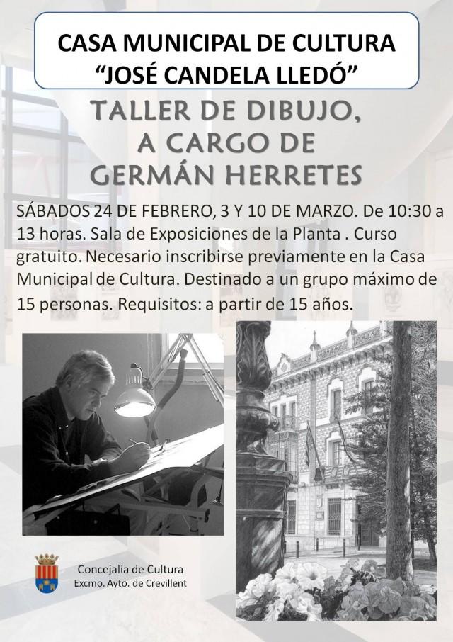 TALLER DE DIBUJO A CARGO DE GERMÁN HERRETES.