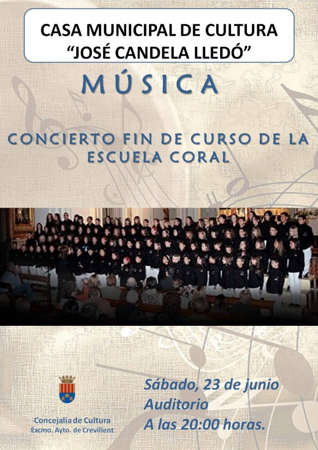 FIN DE CURSO DE LA ESCUELA DE MÚSICA DE LA SOCIEDAD UNIÓN MUSICAL DE CREVILENT.