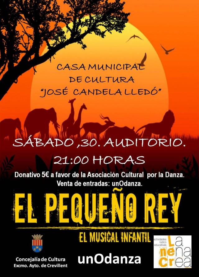 """ESPECTÁCULO MUSICAL INFANTIL """"EL PEQUEÑO REY"""", A CARGO DE LA COMPAÑÍA LA NENA CREA Y UNODANZA."""