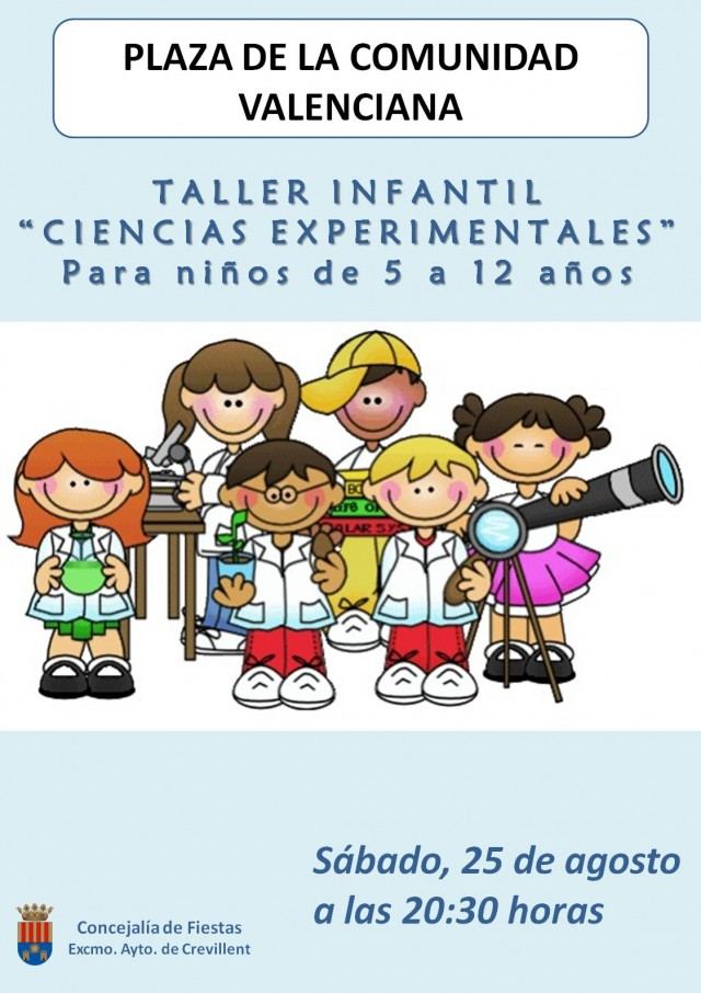 "TALLER INFANTIL ""CIENCIAS EXPERIMENTALES""."