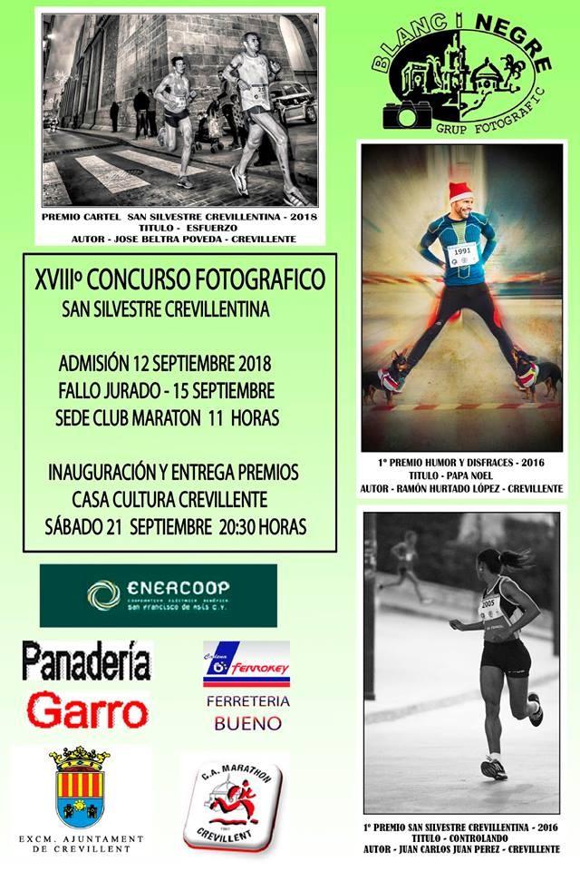 "EXPOSICIÓN FOTOGRÁFICA DEL XVIII CONCURSO FOTOGRÁFICO ""SAN SILVESTRE CREVILLENTINA"" DEL GRUP FOTOGRÀFIC BLANC I NEGRE."