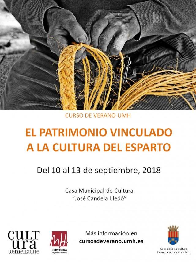 """CURSO DE VERANO DE LA UMH  """"EL PATRIMONIO VINCULADO A LA CULTURA DEL ESPARTO""""."""