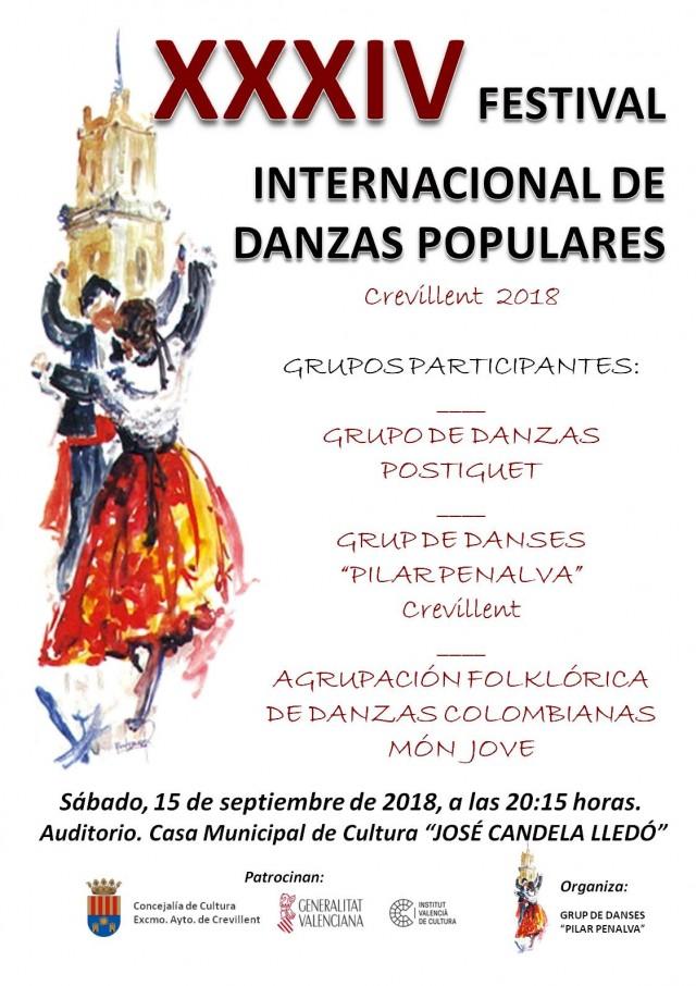XXXIV FESTIVAL INTERNACIONAL DE DANZAS POPULARES.
