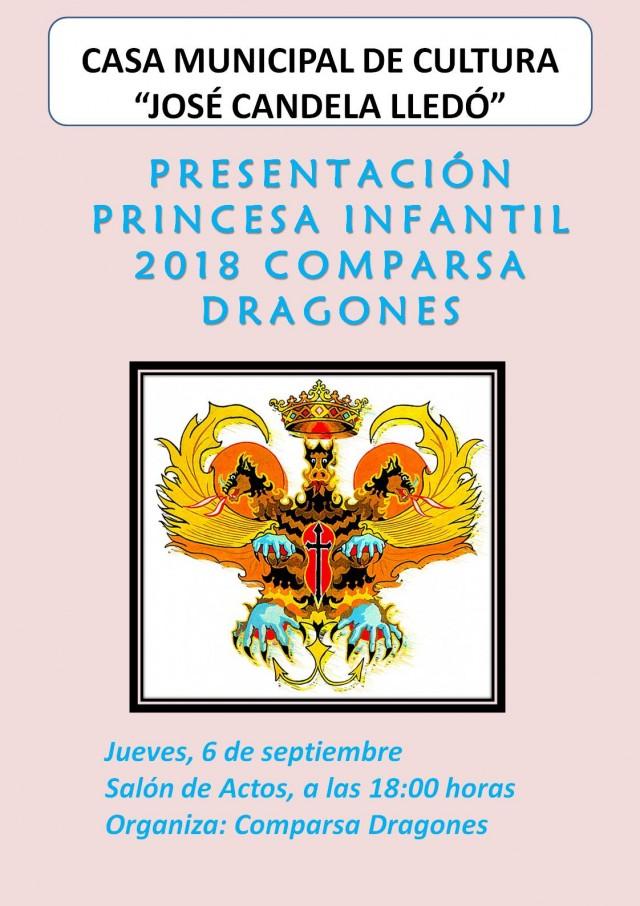 PRESENTACIÓ PRINCESA INFANTIL COMPARSA DRAGONS 2018.