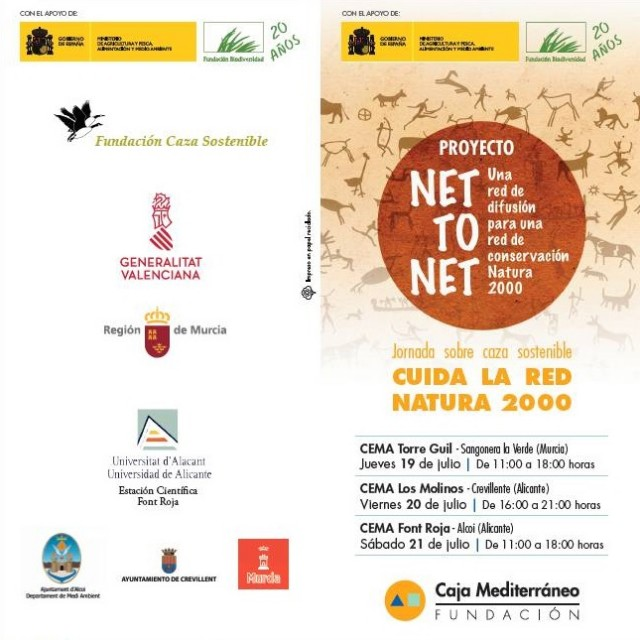 """Proyecto """"NET TO NET"""" una red de difusión para una red de conservación Natura 2000."""