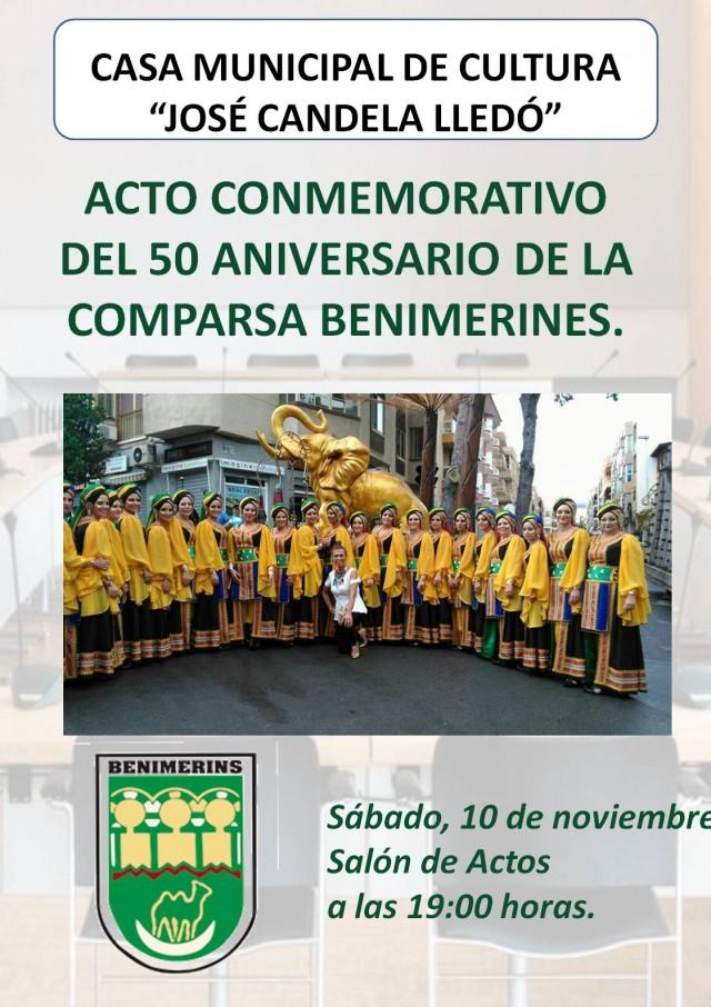 ACTO CONMEMORATIVO DEL 50 ANIVERSARIO DE LA COMPARSA BENIMERINES.