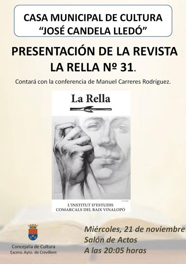 PRESENTACIÓN DE LA REVISTA LA RELLA,  Nº 31.