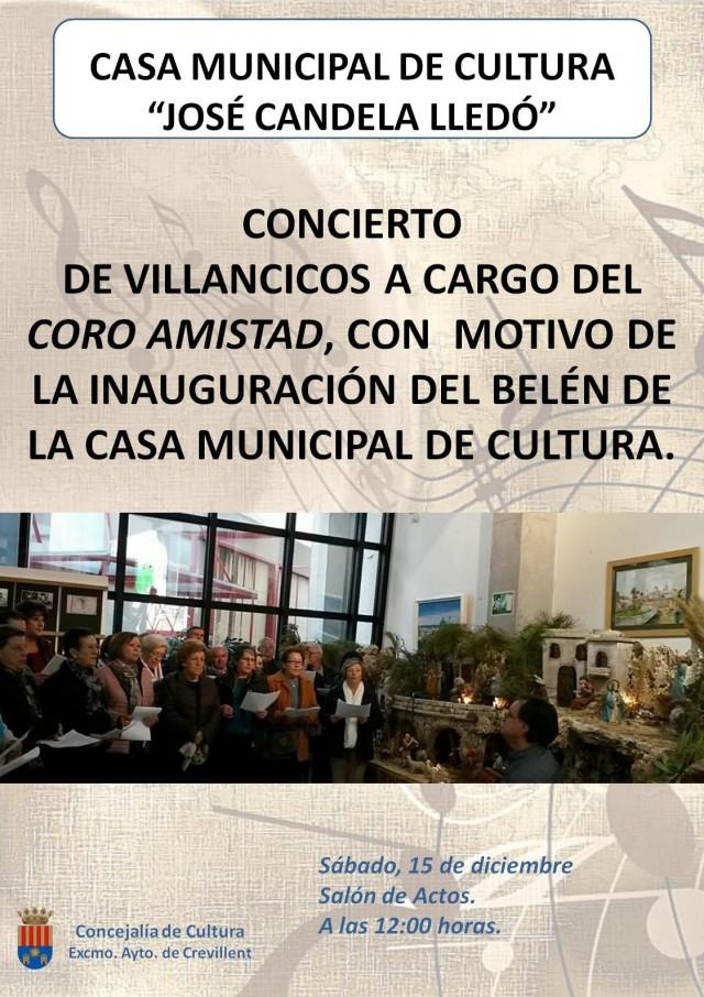 CONCIERTO DE VILLANCICOS A  CARGO DEL CORO AMISTAD.