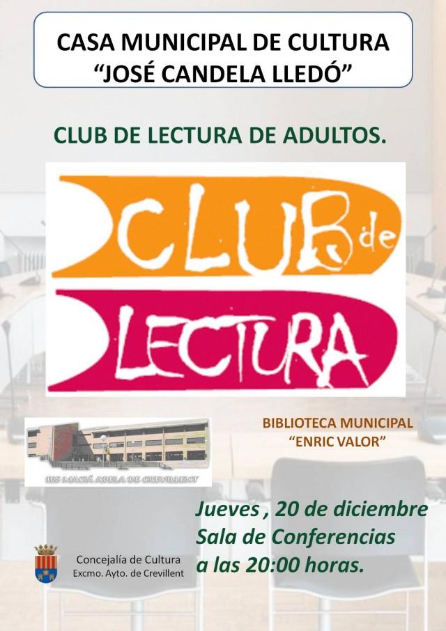 CLUB DE LECTURA DE ADULTOS.