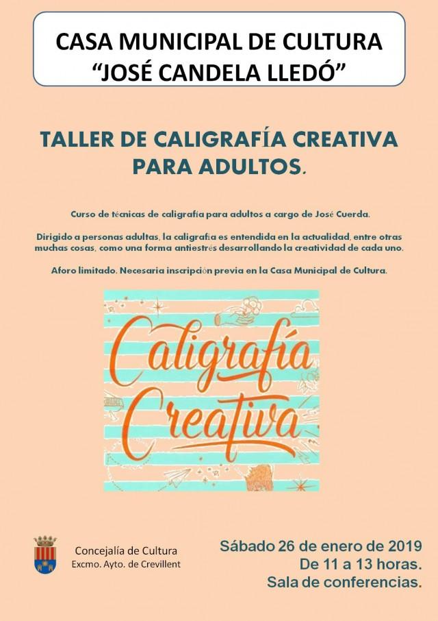 TALLER DE CALIGRAFÍA CREATIVA PARA ADULTOS. Curso de técnicas de caligrafía para adultos a cargo de José Cuerda