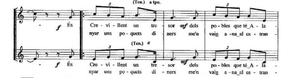 """""""Partituras del cancionero tradicional Crevillentino"""","""
