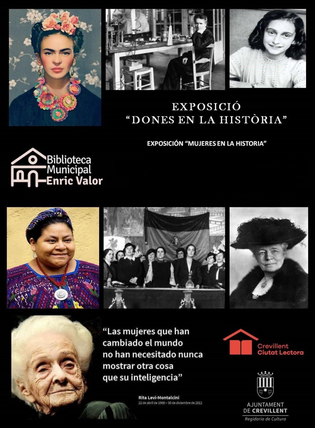 """EXPOSICIÓN """"MUJERES EN LA HISTORIA""""."""