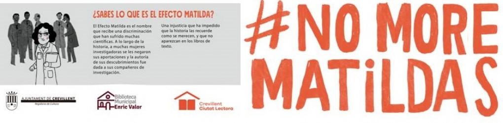 """EXPOSICIÓN """" #NO MORE MATILDAS""""."""