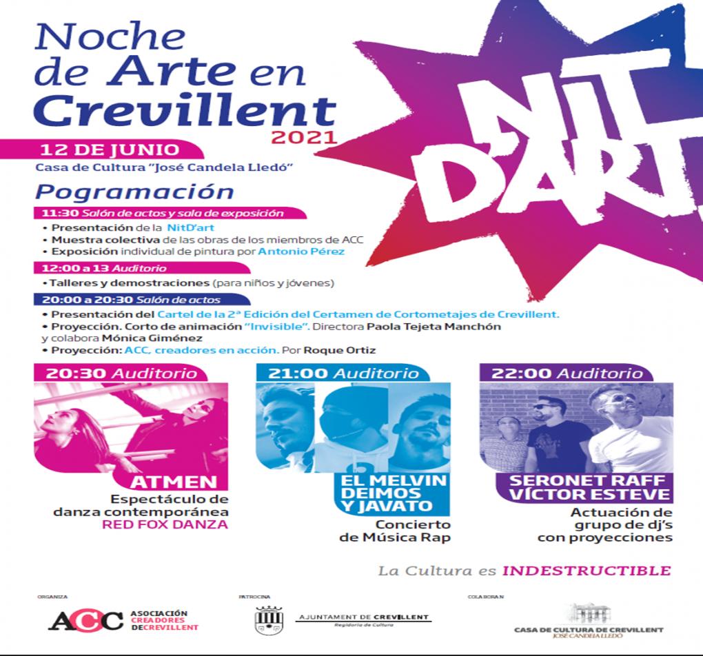 EXPOSICIÓ COL·LECTIVA A CÀRREC DE L'ASSOCIACIÓ DE CREADORS DE CREVILLENT, AMB MOTIU DE LA NIT D'ART.