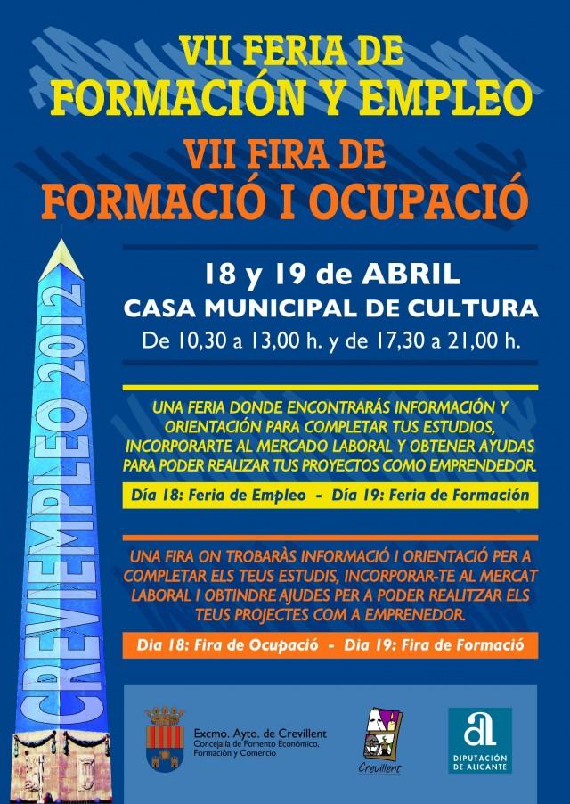 """Crevillent acoge esta semana la Feria """"Creviempleo 2012"""" en la Casa de Cultura"""