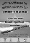 """Concierto de verano de la Sociedad Unión Musical de Crevillent en el auditorio de la Casa Municipal de Cultura """"José Candela Lledó"""""""