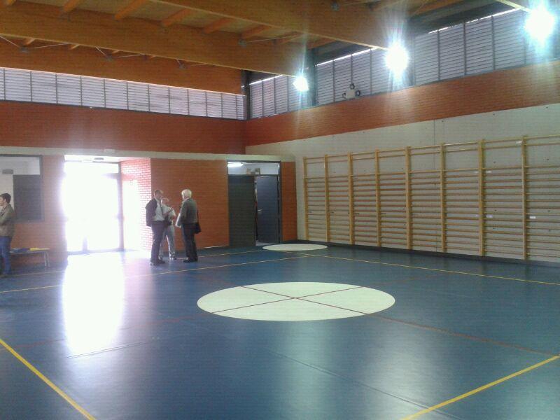 Finalizadas las obras del nuevo gimnasio en el colegio for Gimnasio del centro