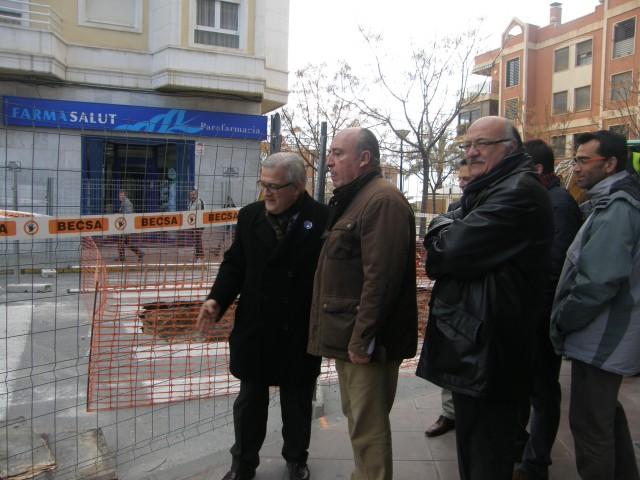 Iniciadas las obras en la Avenida de Madrid del nuevo colector de pluviales
