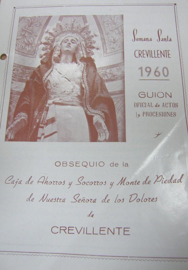 El programa de actos de la Semana Santa de 1960 es el documento destacado del Archivo Municipal