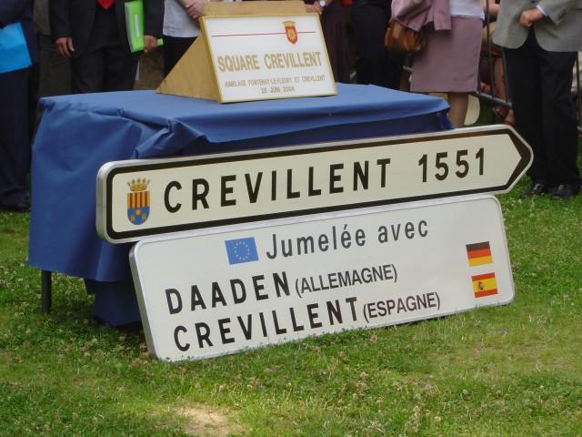 Celebración del Día de Europa con actos dedicados a Fontenay Le Fleury, ciudad francesa  hermanada con Crevillent.