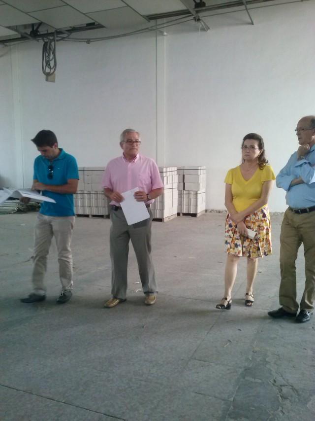 El Alcalde visita las obras de la nave de la Policía Local y el almacén municipal