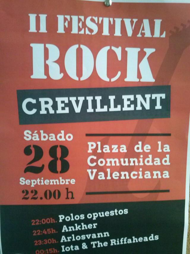 La Plaza de la Comunidad Valenciana acoge mañana sábado el II Concierto Rock