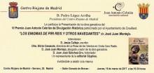 """Este jueves se presenta en Madrid el libro ganador del  Premio de Divulgación Histórica """"Juan Antonio Cebrián""""  correspondiente a su VI edición"""