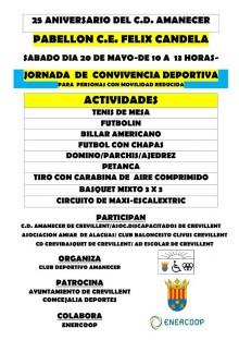 Jornada de convivencia deportivaorganizada por el club Deportivo Amanecer