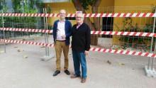 El Alcalde visita el inicio de las obras de acondicionamiento en las instalaciones anexas a la Casa Consitorial