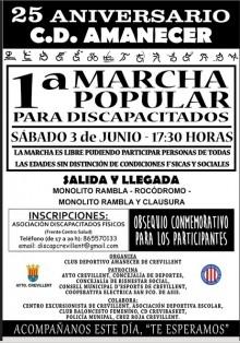 Primera Marcha Popular para Discapacitados