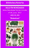 """""""Botanicum"""" es el libro del mes de junio de la Biblioteca Pública Municipal """"Enric Valor"""""""