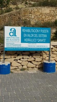 Reinicio de las obras de rehabilitación del puente Qanats,  en el sistema hidráulico Els Pontets