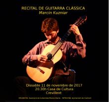 Este sábado recital de guitarra clásica a cargo del guitarrista polaco Marcin Kuzniar