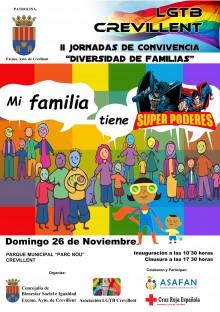 El Ayuntamiento de Crevillent y la Asociación LGTB organizan las II Jornadas de Convivencia de Familias Diversas