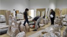 El Ayuntamiento traslada las piezas de Benlliure no expuestas en el museo al almacén definitivo situado  junto a las dependencias de la Policía Local