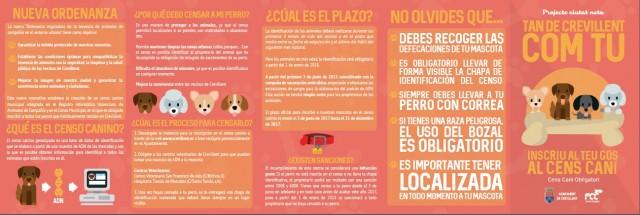La Concejalía de Servicios Municipales recuerda la importancia de inscribir las mascotas caninas en el Censo Municipal para garantizar una mejor convivencia
