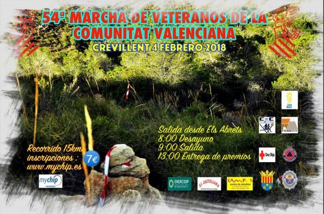 54ª Marcha de veteranos de la Comunidad Valenciana en Crevillent el 4 de febrero