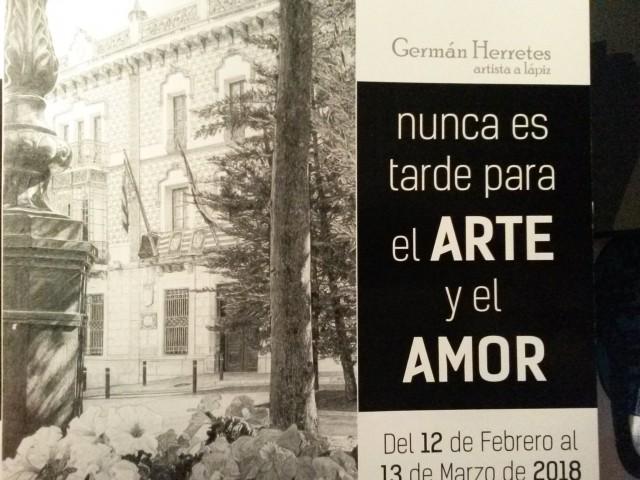 """Inauguración de  la exposición """"Nunca es tarde para el arte y el amor"""" De Germán Herretes en la Casa Municipal de Cultura"""