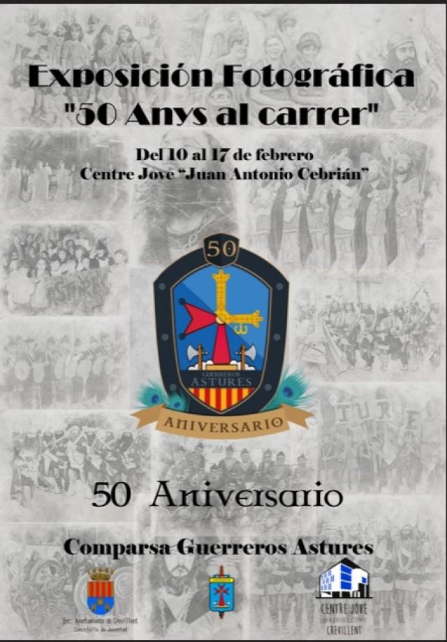 "El Centre Jove presenta la exposición  fotográfica ""50 anys al carrer"" de la comparsa Guerreros Astures"