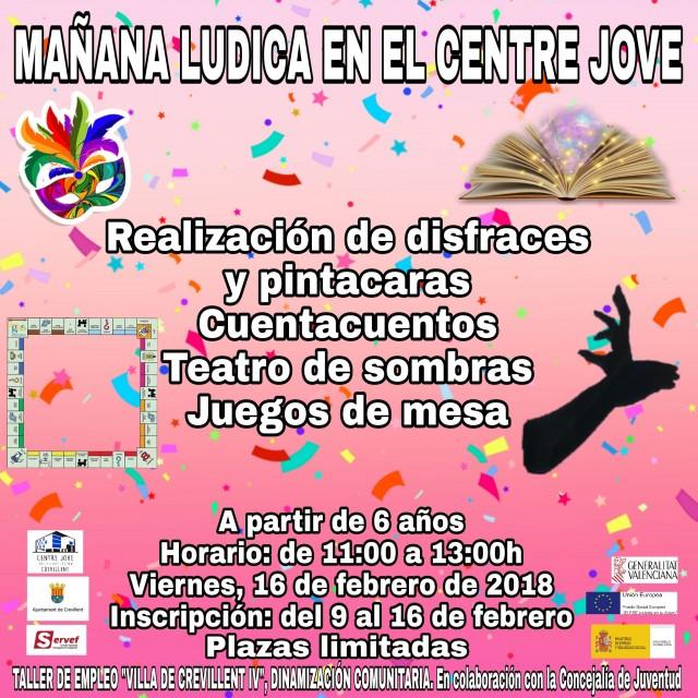 """El Taller de Empleo """"Villa de Crevillent IV"""" y la Concejalía de Juventud organizan una """"Mañana Lúdica"""" para diversión de los más jóvenes."""
