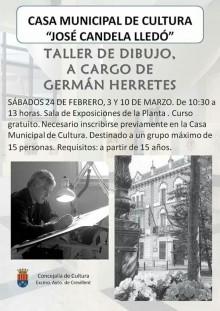 """La Concejalía de Cultura presenta un nuevo taller de dibujo en la Casa Municipal de Cultura """"José Candela Lledó"""""""