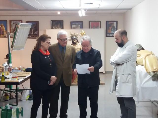 El Ayuntamiento de Crevillent y la Federación de Semana Santa celebran la culminación de los 3 años de trabajo sobre la restauración de 26 grupos escultóricos procesionales del municipio crevillentino