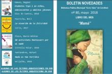 """Ya está disponible el Boletín de la Biblioteca Municipal """"BibliotecAbierta"""" correspondiente al mes de mayo"""