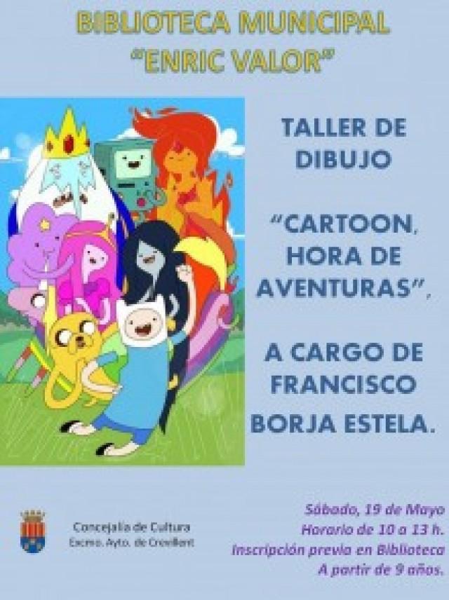 """""""Cartoon. Hora de aventuras"""" es el nuevo taller de dibujo animado que se impartirá este sábado en la Biblioteca Municipal"""