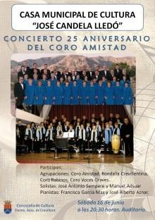 """La Concejalía de Cultura y el Ateneo de Cultura patrocinan el """"Concierto 25 aniversario del Coro Amistad"""""""