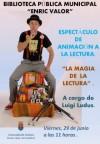 """La Biblioteca Municipal presenta mañana un espectáculo de animación a la lectura bajo el título """"La magia de la lectura"""" a cargo de Luigi Ludus"""