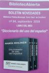"""""""Diccionario del uso del español"""" es el libro del mes de septiembre de la Biblioteca """"Enric Valor"""""""